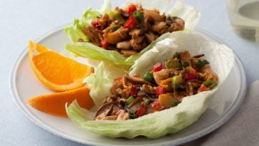 Asian Chicken and Veggie Lettuce Wraps