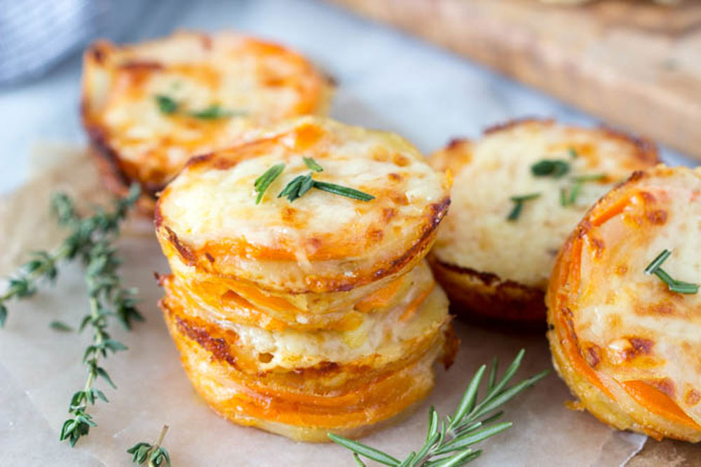 Cheesy Potato Gratin Stacks