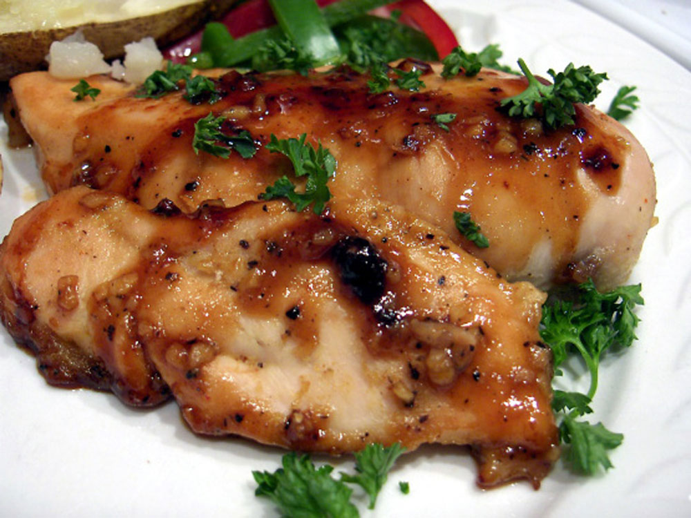 Low-Fat-Honey-and-Ginger-Chicken-Breasts