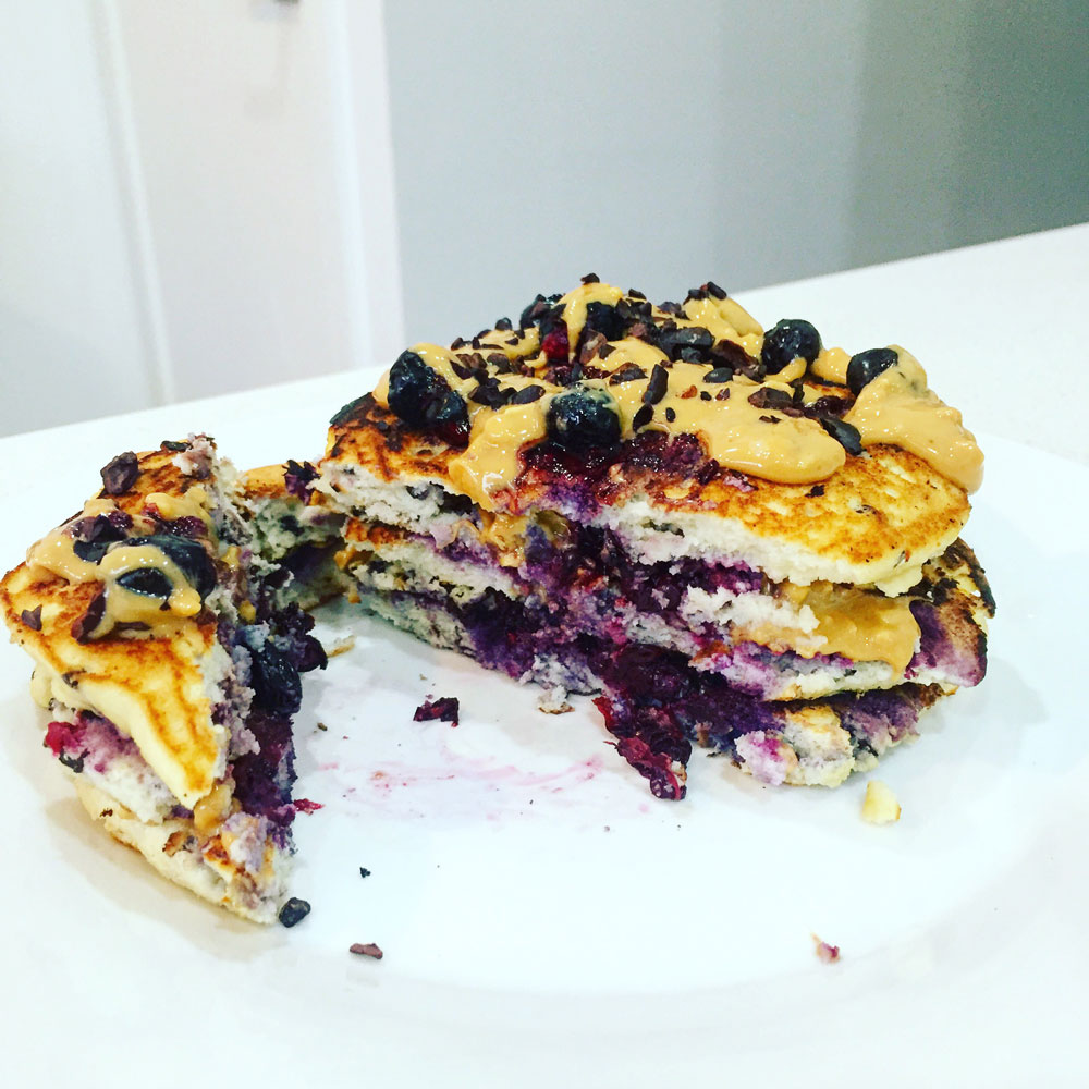 Mixed-Berry-and-Peanut-Butter-Pancakes