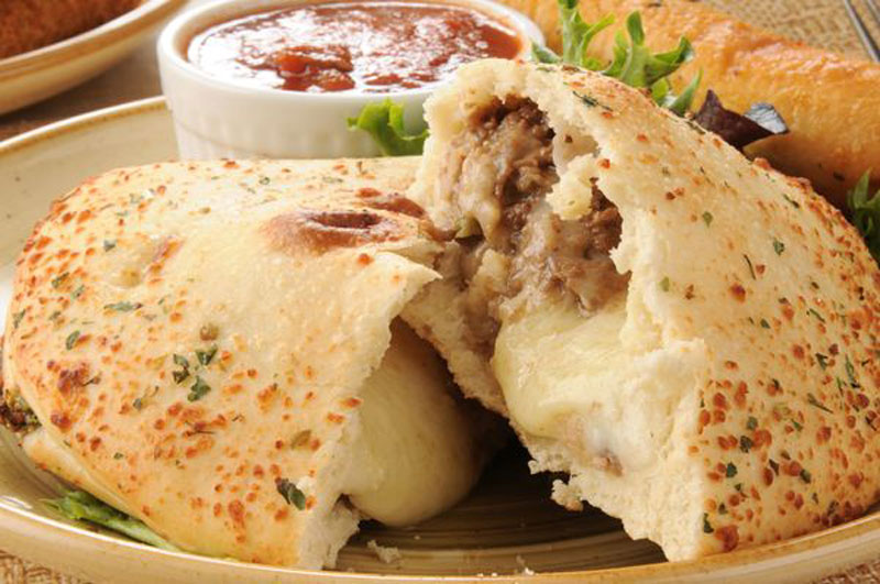 CHEESESTEAK-CALZONE