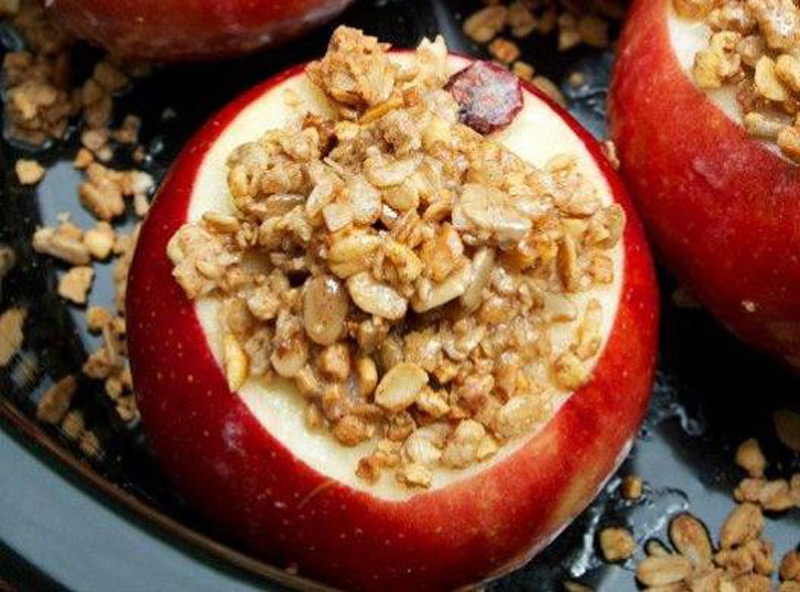 Honey-Baked-Apples-with-Stovetop-Granola