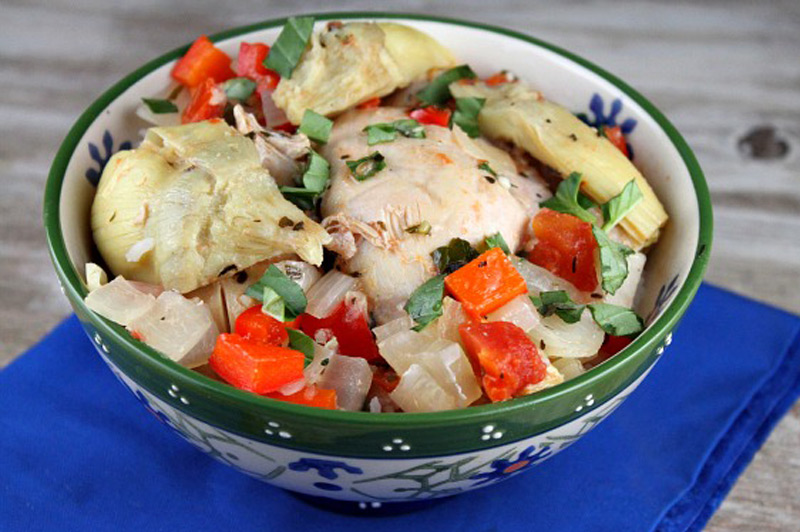 Slow-Cooker-French-Basil-Chicken