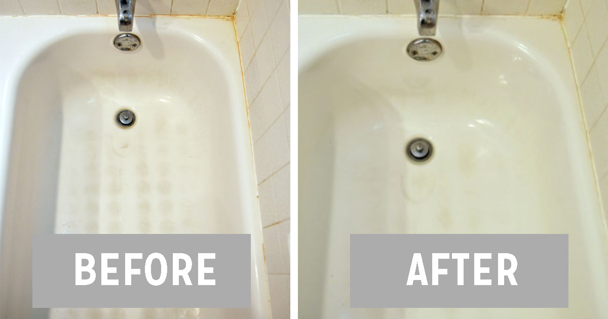 Using Just 3 Ingredients Clean Your Dirty Bathtub And